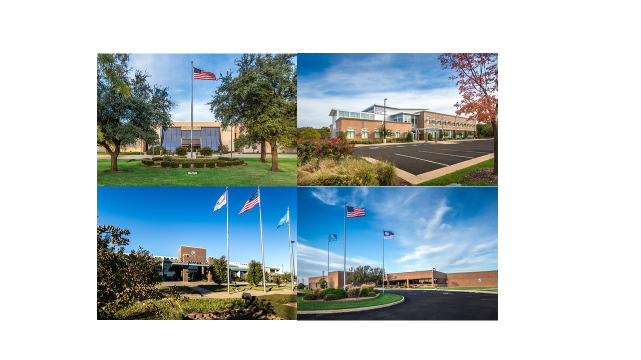 Collage of four campuses